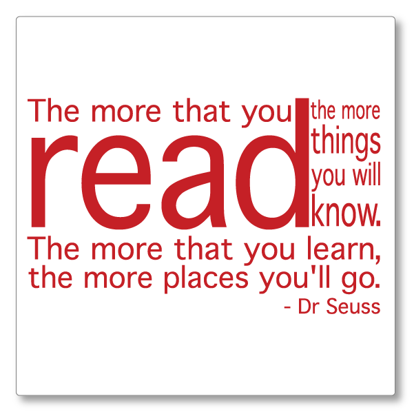 library quotes READ for WEB-22 wall decal
